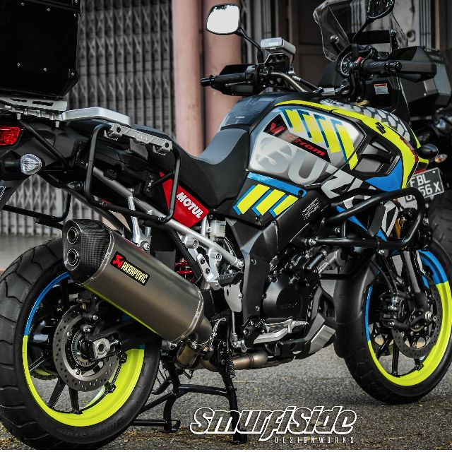 Suzuki Vstrom Customized Body Wrap And Rim Decals Car Accessories