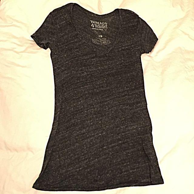 Threads 4 Thought Black V-neck Tshirt