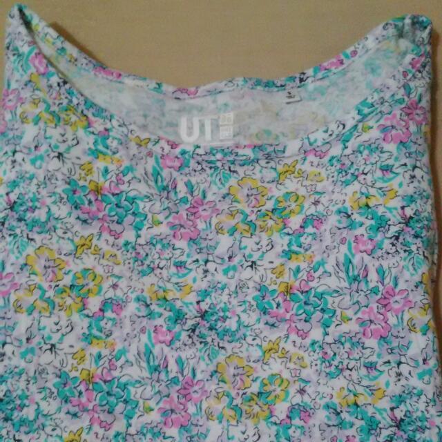 Uniqlo Liberty London聯名款 花卉 Tshirt