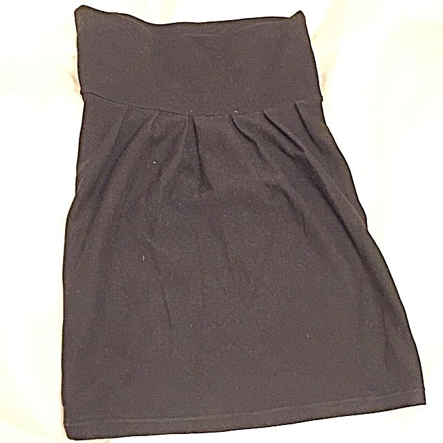 Urban Behaviour Black Cotton Pencil Skirt