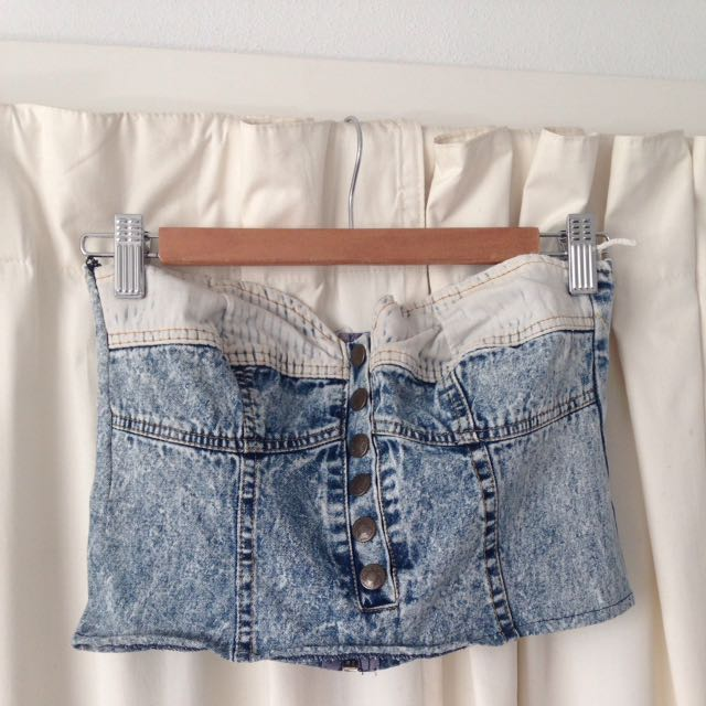 Vintage Denim Buster Crop