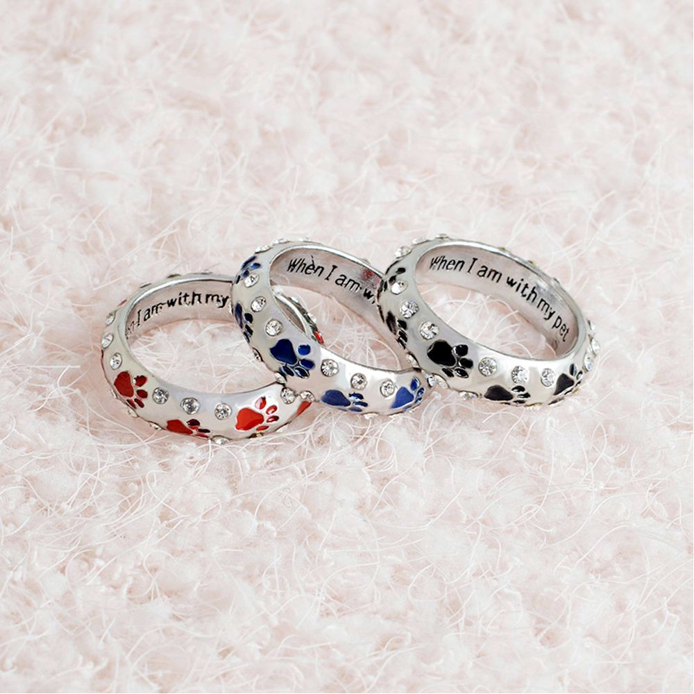 When I Am with My Pet Ring Dog Claw Fashion Jewelry + Free Shipping