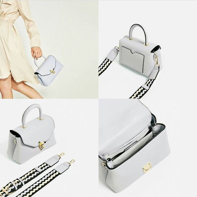 Zara Crossbody Bag With Fastening Detail
