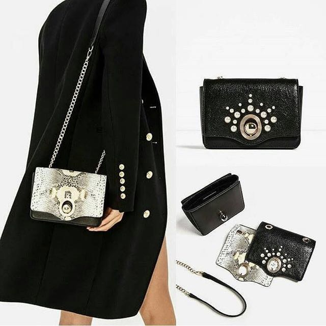 Zara Crossbody Bag With Interchangeable