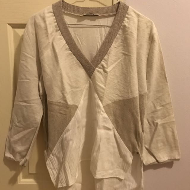 Zara Patch Top Size M