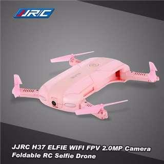 2MP HD JJRC H37 ELFIE Foldable Mini Selfie Pocket FPV Drone (Pink) - Upgraded