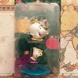 迪士尼聖誕一番賞 美女與野獸 茶壺媽媽 阿奇