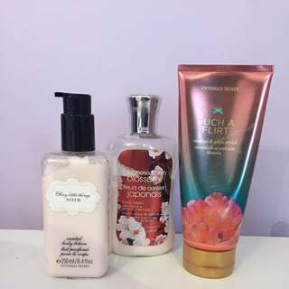 Body Lotion From Bath And Body Works & Victoria's Secret
