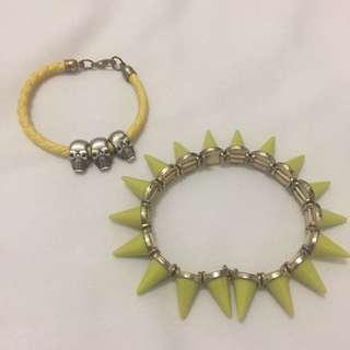 Neon Punk Bracelet (2pcs)