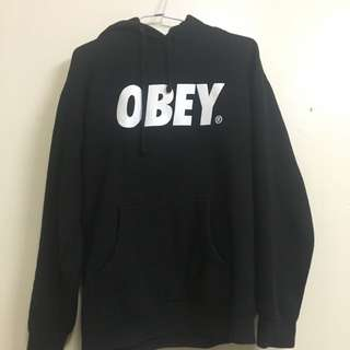 OBEY 黑色帽T S號