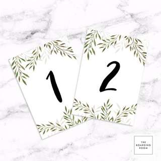 Printable DIY Table Number 1-30 For Wedding, Banquet, Birthday Party, Etc