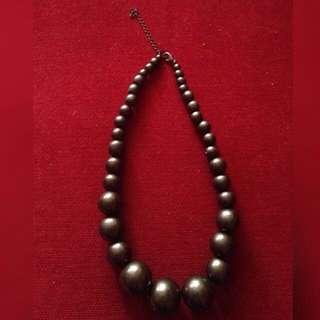 Aldo Wooden Choker Necklace