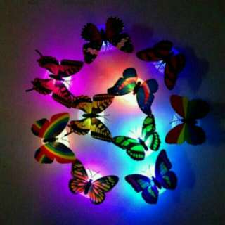 Lampu tidur kupu kupu cantik warna