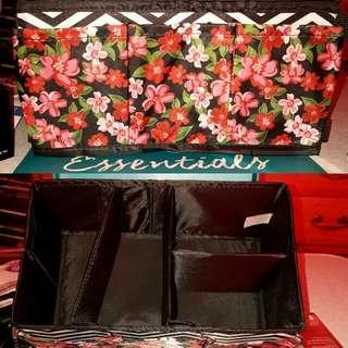 Floral Chev Beauty Makeup Bag