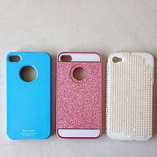 IPhone 4/4s Hard Cover Case (3 cases)