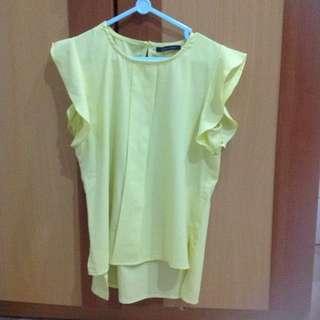 Uptown Girl Neon Yellow Green Blouse