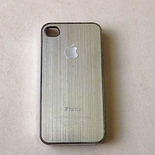 Silver Apple IPhone 4/4s Hard Cover Case