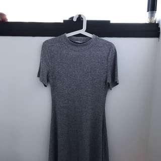 PARE BASIC GREY SWING DRESS