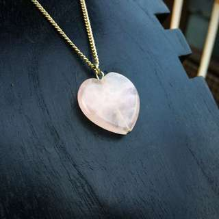 Pink Heart Long Necklace