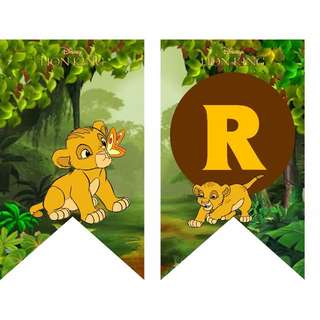 Bunting Banner - Baby Simba from The Lion King
