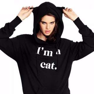 Cat Ears Hoodie Sweater