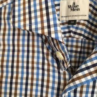 3 Wise Men Shirt- Size 38