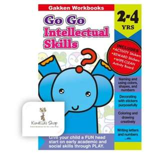 Gakken GO GO Activity Intellectual Skills (2-4 yrs)