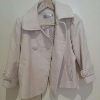 Cream Wool Crop Jacket Size 10