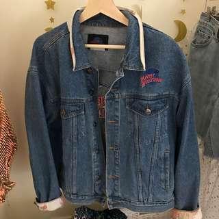 Plant Hollywood Oversize Denim Vintage Jacket