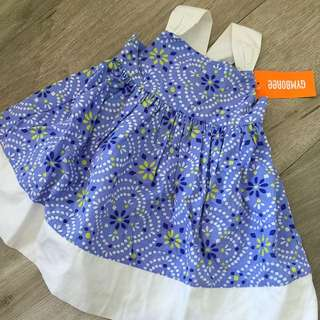 全新GYMBORee 藍色連身裙+褲仔