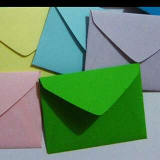 Customized handmade small envelopes your choice of colors and sizes