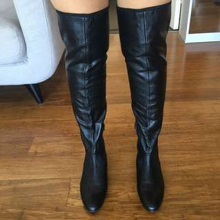 Tony Bianco Thigh High Leather Boots