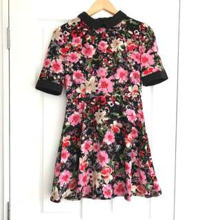 Printed Flower Dress