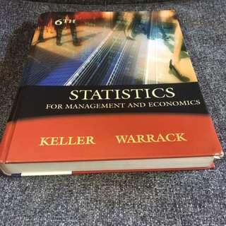 Statistics For Management Economics (6th)