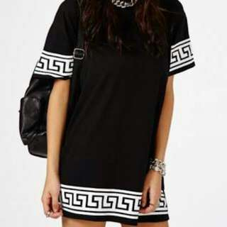 Missguided Grecian Oversize Tee Dress