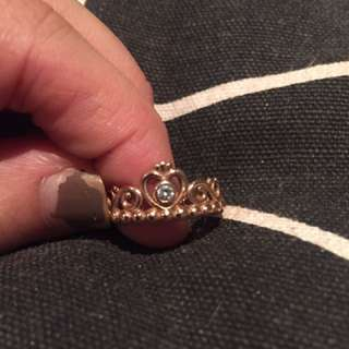 Rose Gold Princess Pandora Ring