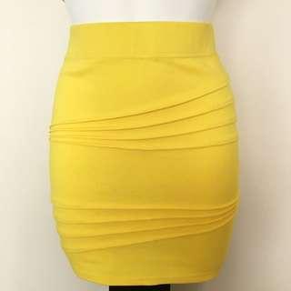 Yellow Detailed Skirt