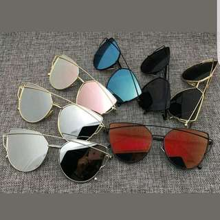 Sunglasses Women Trend Fashion Oversized Cateye Vintage Retro Metal Mirror Sunnies Summer PRR ORDER
