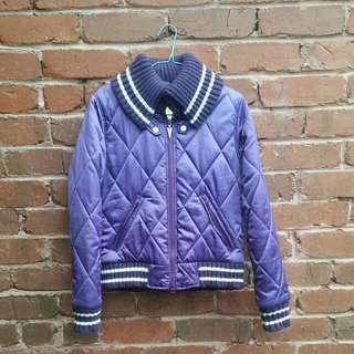Joyrich Purple Quilted Baseball Jacket Size M
