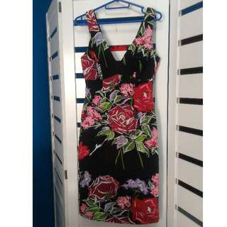 PL Nicole Miller Floral Sleeveless Dress