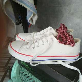natasha white shoes w/free liston