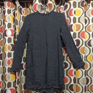 H&M Dotted L/S Dress