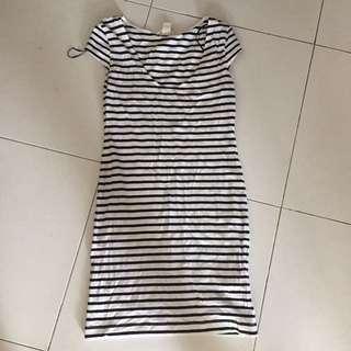 MNG Striped Dress