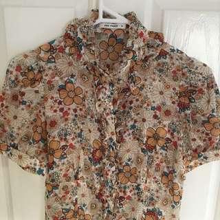 Sheer Flowery blouse