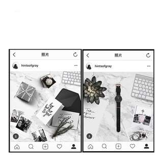 ins流行風格大理石紋背板📷拍照🎬拍攝道具手機飾品化妝品擺拍道具實拍照IG