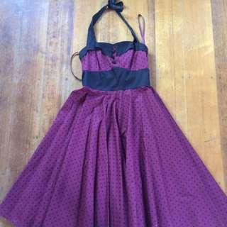 Halter/polkerdot Dress Size 10