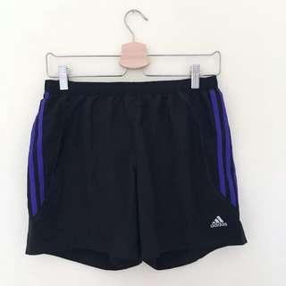 Adidas Sports Shorts Purple Stripes