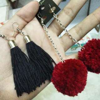 Anting Pompom & Tassel