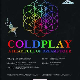 Coldplay x Singapore Standing Pen 2 Tickets