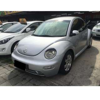 免頭款 可辦理貸款 低月付 2004年 VW 福斯 Beetle 金龜車 1.6 銀